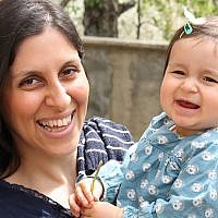 Nazanin Zaghari-Ratcliffe with her daughter Gabriella. (AFP)
