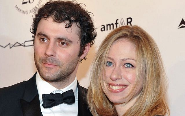 In this Feb. 9, 2011 file photo, Chelsea Clinton and husband Marc Mezvinsky attend amfAR's annual New York Gala at Cipriani Wall Street in New York. (AP/Evan Agostini)