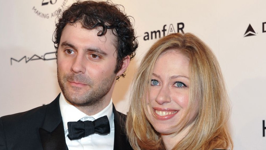 In this Feb. 9, 2011 file photo, Chelsea Clinton and husband Marc Mezvinsky
