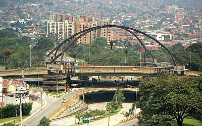 Point Zero Bridge in the center of Medellin, Columbia's second largest city. (CC BY-SA 3.0 Yimicorrea/Wikipedia)
