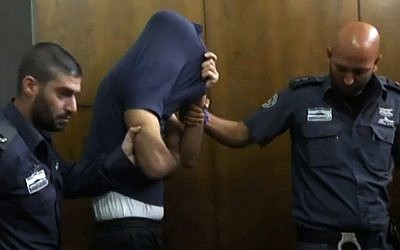 One of two Palestinian cleared of having raped a disabled Israeli woman in court in Tel Aviv on June 1, 2016 (screenshot: Walla)
