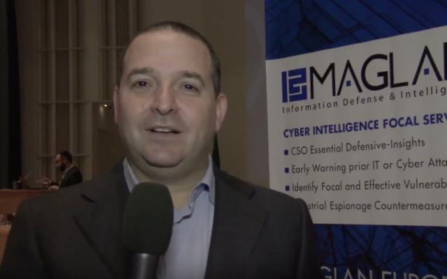 Shai Blitzblau, president and co-founder of Israeli cyber security company Maglan. (YouTube screenshot)
