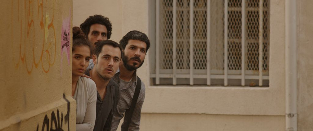 Dorona (Rotem Zissman-Cohen) her semi-estranged husband, Ricky (Tsahi Halevi) and her brothers Shai (Assaf Ben-Shimon), and Natanel (Roy Assaf) are on a journey to find their Algerian Muslim father. (Screenshot: Courtesy)