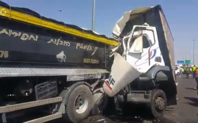 A truck collision on Route 431 on June 1, 2016. (Screen Capture: Channel 10)