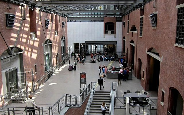 Interior of the United States Holocaust Memorial Museum, located south of the National Mall, on 14th Street, S.W., in Washington, DC (CC BY-SA AgnosticPreachersKid)