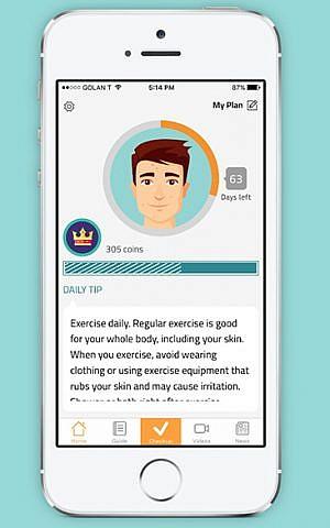 A screenshot of the MDacne app. (Courtesy)