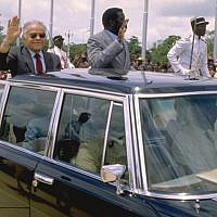Prime Minister Yitzhak Shamir on a visit to Togo in June 1987. (GPO)