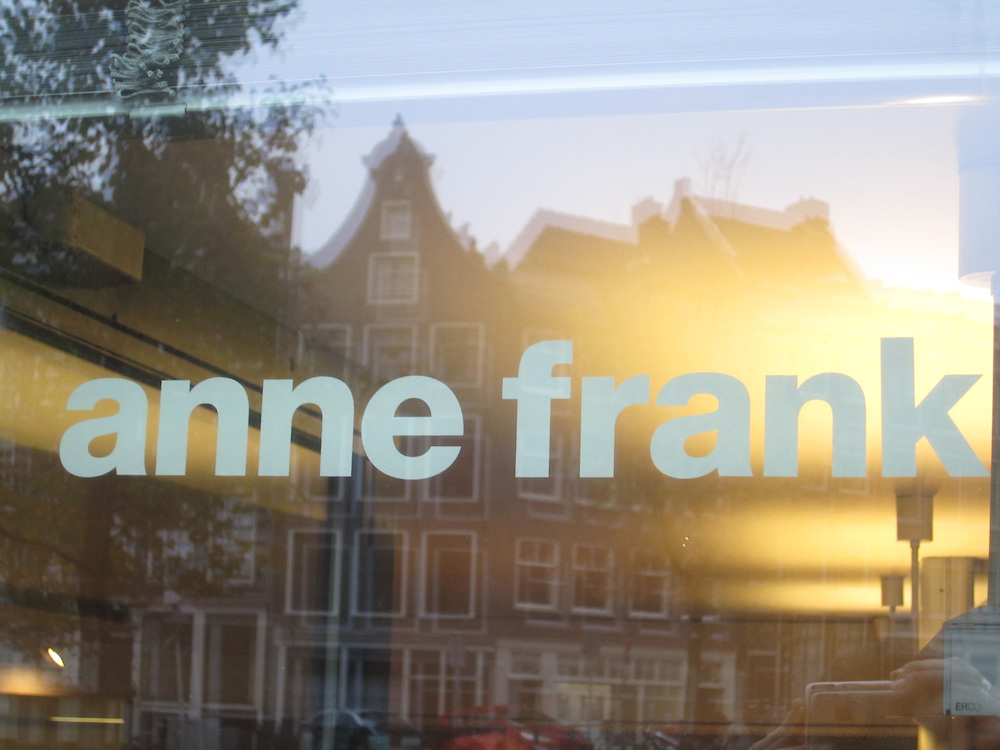 The Anne Frank House museum in Amsterdam, the Netherlands, November 2014 (Matt Lebovic/The Times of Israel)