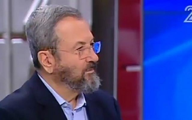 Former prime minister Ehud Barak on Channel 2, June 17, 2016. (Screenshot/Channel 2)