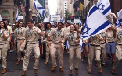 Illustrative: Israeli scouts in New York City (Courtesy Blundstone Israel Instagram)