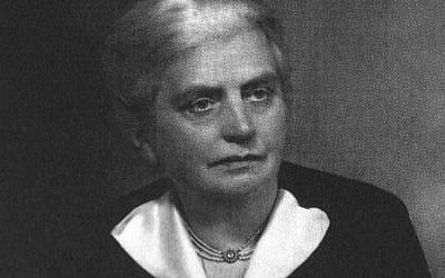 MP Eleanor Rathbone, who died in 1946, devoted much of her parliamentary career to working for refugees. (courtesy)