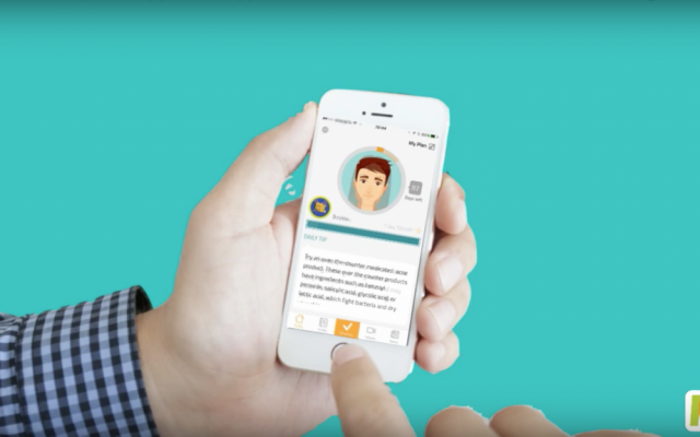 The MDacne app analyzes photos of users to diagnose their acne and recommend treatment. (YouTube screenshot)