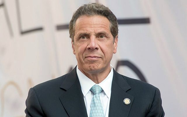 New York Governor Andrew Cuomo attending the Cadillac House grand opening in New York City, June 1, 2016. (Mike Pont/WireImage/Getty Images/via JTA)