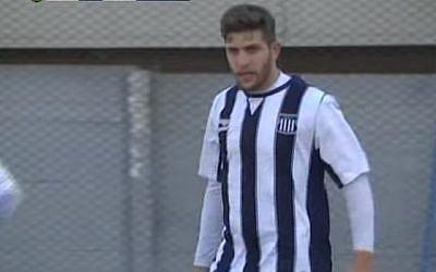 Israel-Argentinian soccer player Eial Strahman. (YouTube/tv10cordoba)