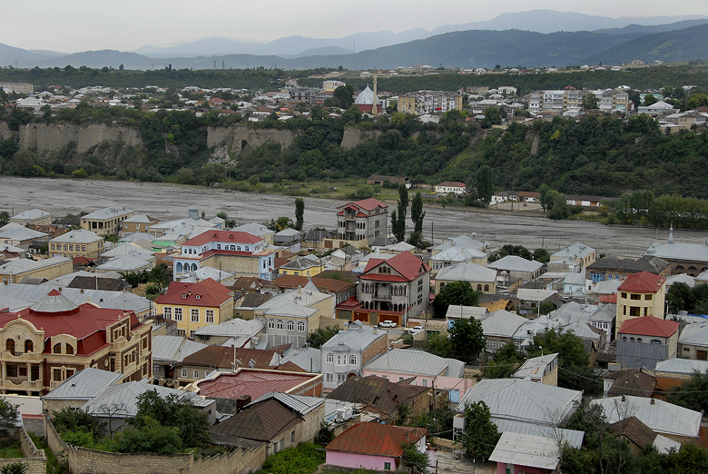 The town of Krasnaya Sloboda is separated from the Muslim city of Quba by a narrow river. (Courtesy)