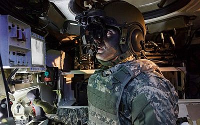 Elbit's IronVision imaging system allows tank and vehicle commanders to view their surroundings from inside the vehicle. (Courtesy)