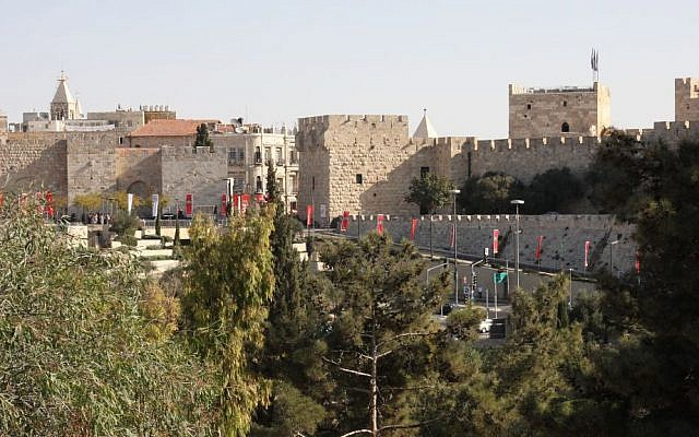 The Old City walls and Jaffa Gate. (Shmuel Bar-Am)