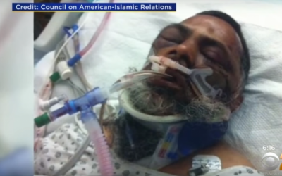 Mohamed Rasheed Khan lies in hospital after being  assaulted by three unidentified assailants (YouTube screenshot)