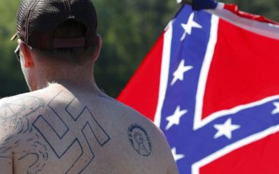 Illustrative: In this Saturday, April 27, 2016 photo, supporters of the Confederate flag participate in a rally at Stone Mountain Park in Stone Mountain, Georgia. (AP Photo/John Bazemore)