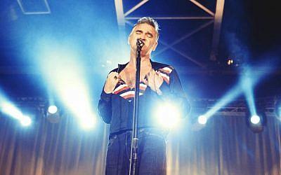 Charismatic solo artist Morrissey in Tel Aviv in 2016 (Courtesy Orit Pnini)