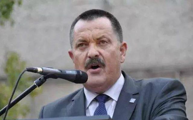 Greek neo-Nazi Golden Dawn lawmaker Christos Pappas. (screen capture Golden Dawn website)