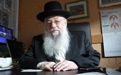 Christians in the Ukrainian city of Chernivtsi turn to  Rabbi Noah Kofmansky to pray for them -- though the reasons for this stem from anti-Semitic stereotypes. (Julie Masis/Times of Israel)