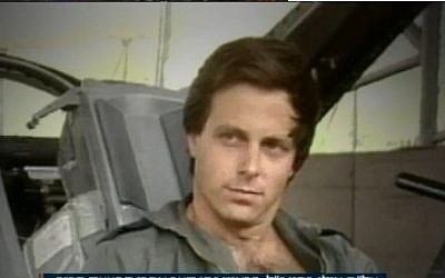 Late IAF pilot and astronaut Ilan Ramon, interviewed shortly after 1981's Operation Opera, in which Israel destroyed the Osirak nuclear reactor in Iraq. (Screen capture: Channel 10)