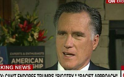 Mitt Romney speaks to CNN about Donald Trump, June 10, 2016 (Screenshot/CNN)