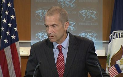 US State Department spokesman Mark Toner briefs the press on Thursday, June 9, 2015 (Youtube screenshot)
