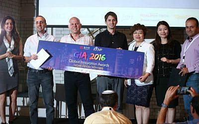 Israeli finalists at the Global Innovation Awards 2016 (Dror Sithakol)