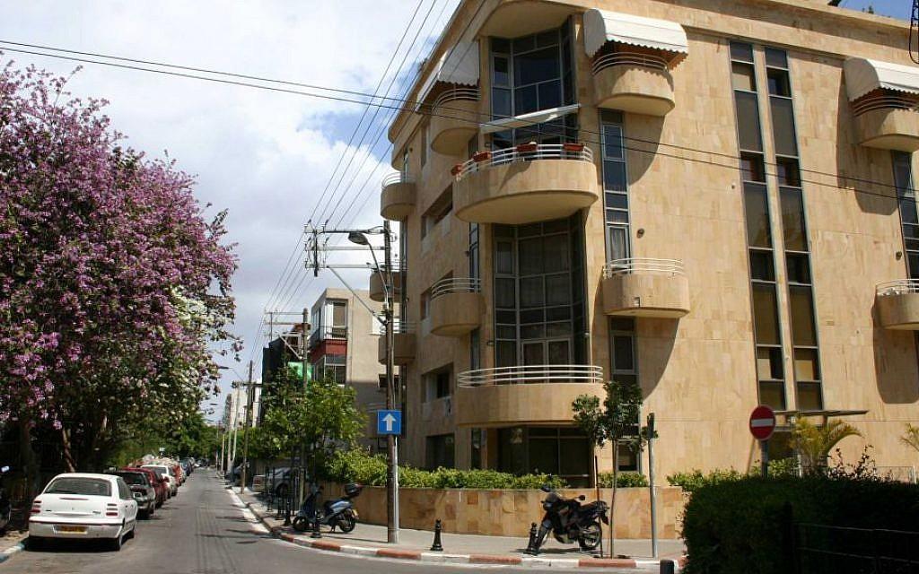 Zangville street, just south of Nordau street, in Tel Aviv's Old North. (Shmuel Bar-Am)