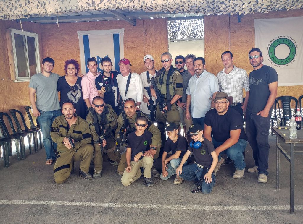 James Caan and his entourage visiting in Gush Etzion (Courtesy Or Gefen)