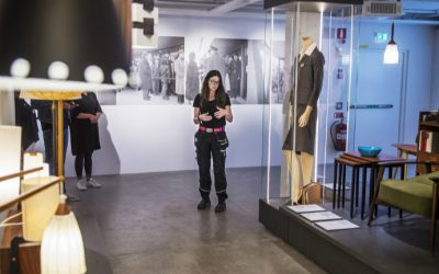 Creative leader Cia Eriksson gives a tour at the Ikea Museum in Almhult, Sweden, on June 14, 2016. (Emil Langvad/TT News Agency/AFP)