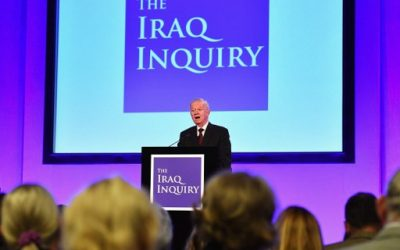 Iraq Inquiry chairman Sir John Chilcot speaks as he comments on the findings of his report, inside the QEII Centre in London on July 6, 2016. vAFP PHOTO / POOL / Jeff J Mitchell)