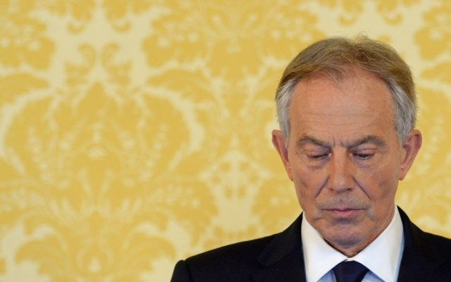 Former Prime Minister Tony Blair speaks during a news conference in London on July 6, 2016, following the outcome of the Iraq Inquiry report. (AFP PHOTO/POOL/STEFAN ROUSSEAU)