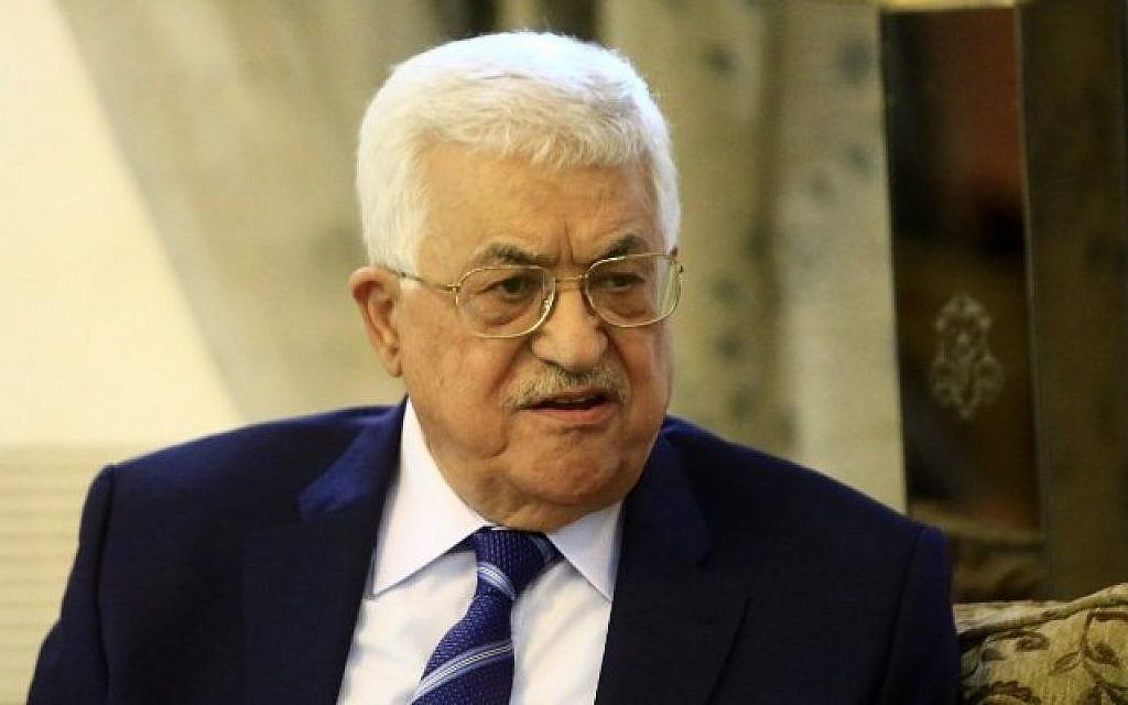 Palestinian Authority President Mahmoud Abbas at Khartoum's airport, July 19, 2016. (AFP/Ashraf Shazly)