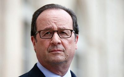 French President Francois Hollande at the Elysee Palace, in Paris, on July 22, 2016. (AFP/Pool/Thibault Camus)