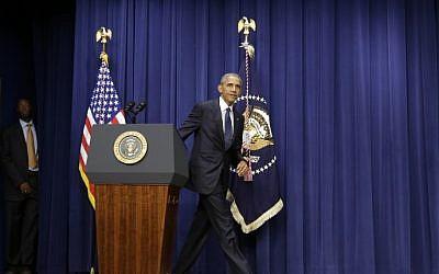 US President Barack Obama at the White House in Washington, DC on July 22, 2016. (AFP PHOTO / YURI GRIPAS)