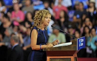 Democratic National Committee Chair, Congresswoman Debbie Wasserman Schultz addresses a campaign rally for Democratic presidential candidate Hillary Clinton at Florida International University in Miami, Florida, July 23, 2016. (AFP Photo/Gaston De Cardenas)