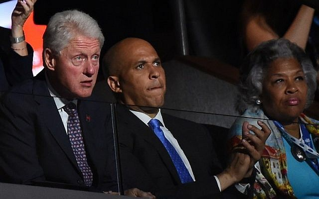 Former US president Bill Clinton listens during Day 1 of the Democratic National Convention at the Wells Fargo Center in Philadelphia, Pennsylvania, July 25, 2016. (AFP/ Robyn BECK)
