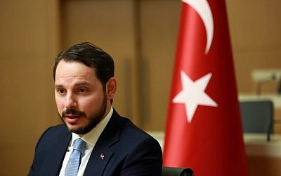 Turkish Minister of Energy Berat Albayrak addresses the media in Ankara, on July 27, 2016. (AFP PHOTO / ADEM ALTAN)