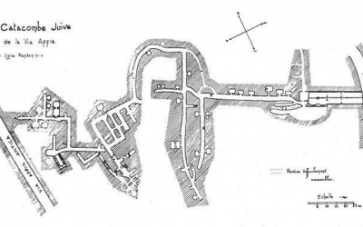 Plan of the Vigna Randanini catacomb by Jean-Baptiste Frey published in the Rivista di Archeologia Cristiana 10 [1933] (Photo courtesy of Jessica Dello Russo/ International Catacomb Society)