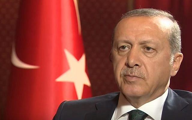Turkish President Recep Tayyip Erdogan speaks to CNN on July 18, 2016 (YouTube screenshot)