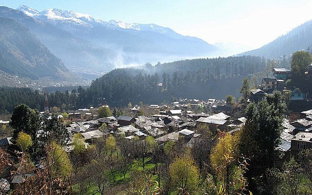 The town of Manali Anoop Pandit,  in the Indian state of Himachal Pradesh , India. (CC-BY-SA - Anoop Pandit/Wikimedia)
