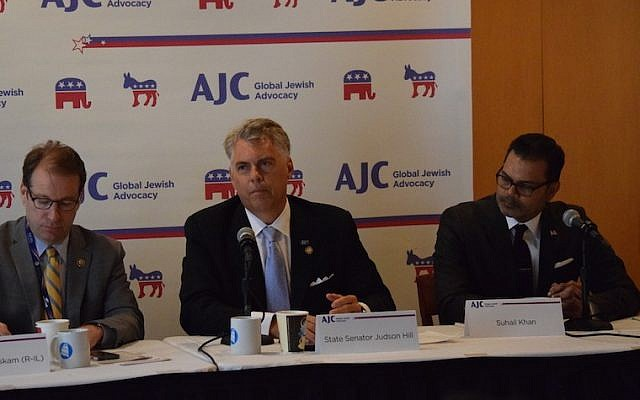 The American Jewish Committee holding a panel on anti-Semitism that coincided with the beginning of the Republican convention, July 18, 2016. (Cleveland Jewish News)