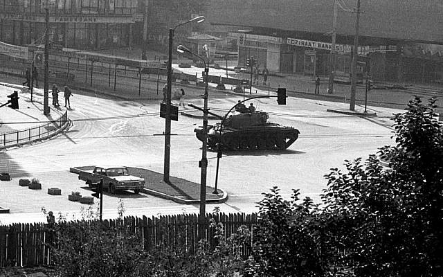 In this Sept. 12, 1980 photo, a military tank is stationed at the center of Kizilay, Ankara's main square, a few hours after a coup d'etat. (AP Photo/Burhan Ozbilici)