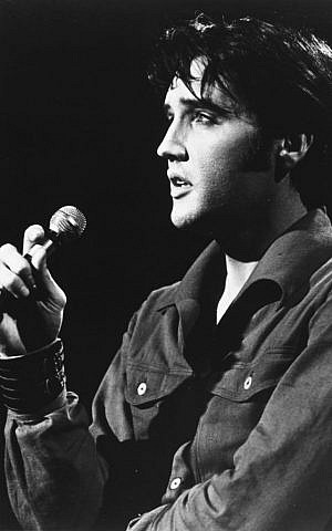 Elvis Presley in concert in 1958 (AP photo)