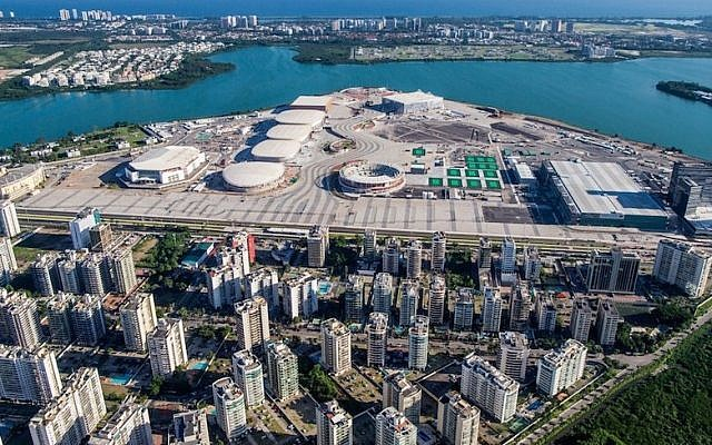 An aerial view of the Rio 2016 Olympic Park (Courtesy of Rio 2016)