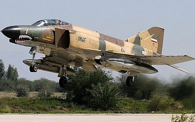 An Iranian air force F-4 takes off (CC BY-SA Shahram Sharifi/Wikimedia Commons)