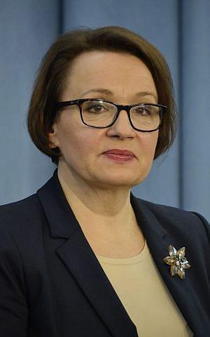 Police Minister of Education Anna Zalewska. (CC BY-SA 3.0 Adrian Grycuk/Wikipedia)